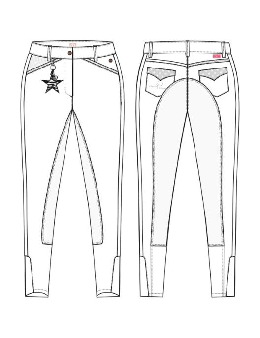 Imperial Riding Breeches Kids Star white