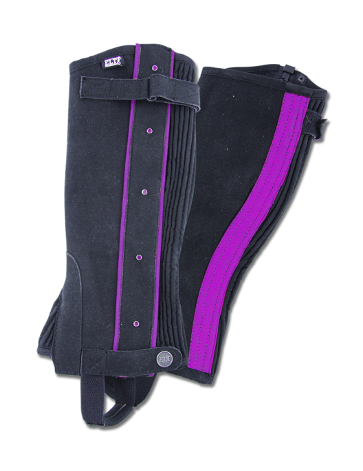 Waldhausen Mini Chaps schwarz/ lila Applikationen