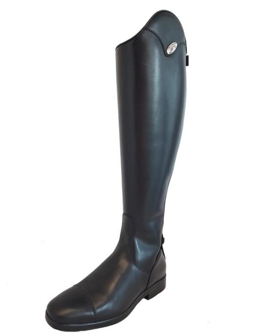 DeNiro Reitstiefel Leccese01 Winterwolle schwarz