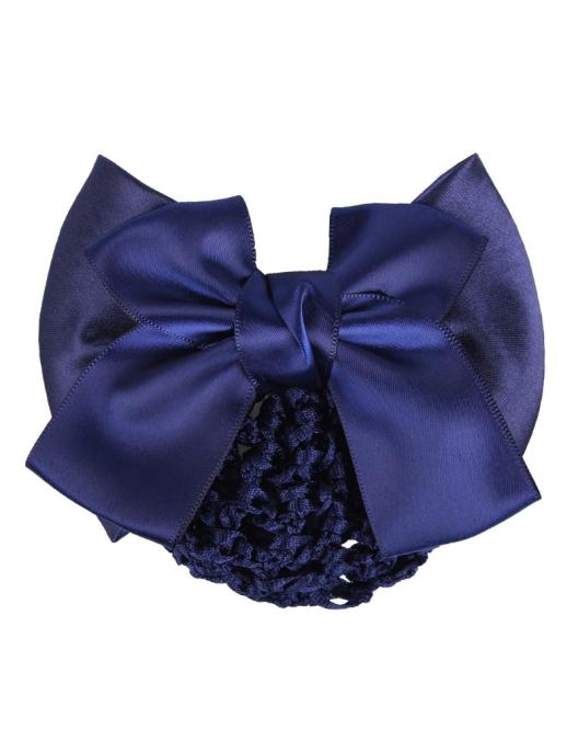QHP Haarnetz Basic großmaschiges Haarnetz mit doppelter Satinschleife 3 Farben Reit- & Fahrsport