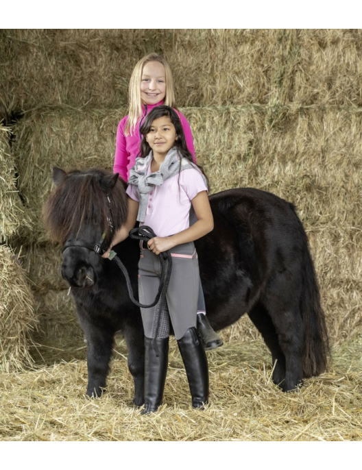 USG Kinderreithose Ida Smart mit Top-Grip anthrazit/rosa