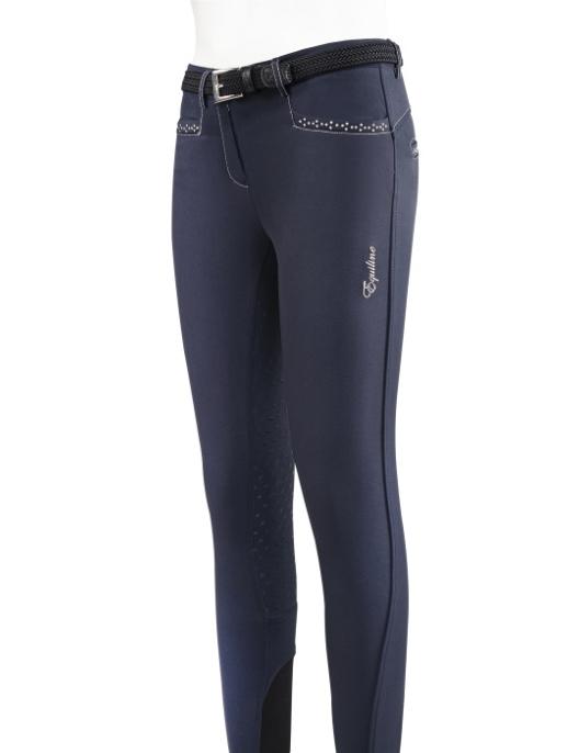 Equiline Breeches Girls Emma Full-Grip blue
