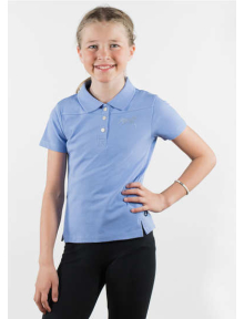 Horze Erin JR Cotton Polo Shirt powder blue