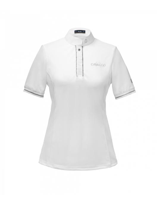 Cavallo Magnolia Damen Turniershirt weiß