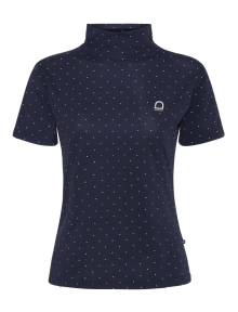 Equipage Aptic Kurzarmshirt navy dot M