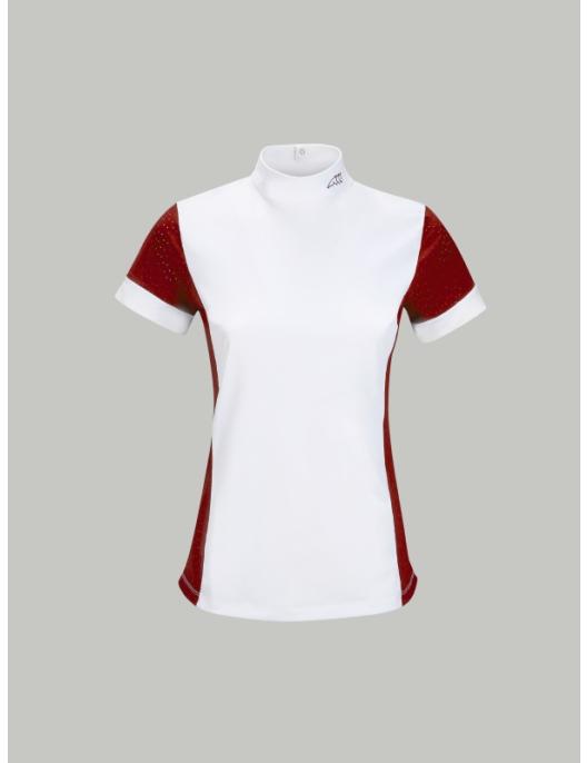 Equiline Damen Turniershirt Heather fire red