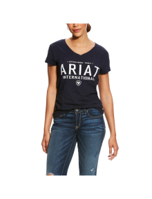 Ariat Women Block Logo T-Shirt navy