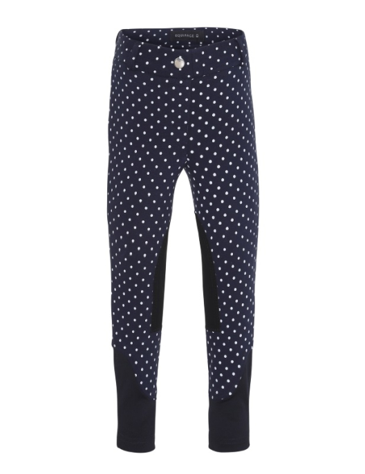 Equipage Jersey Kinderreithose Annova knie skin navy dot