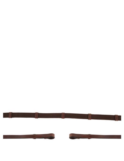 BR Zügel Gurtzügel 19mm oak/silber WB