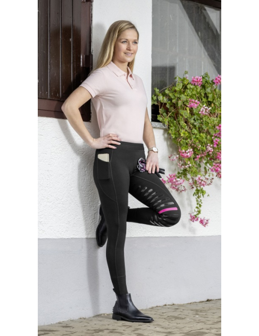 USG Damen Reit-Tights Jil Top-Grip Besatz schwarz