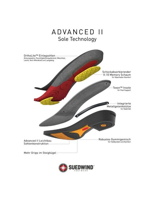 Suedwind Advanced II BZ Lace brown