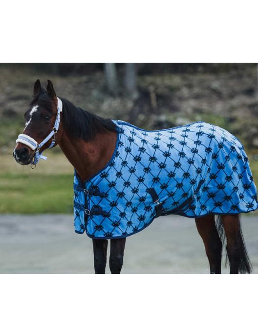 Horze Pony Fleece Rug  blue/darkblue
