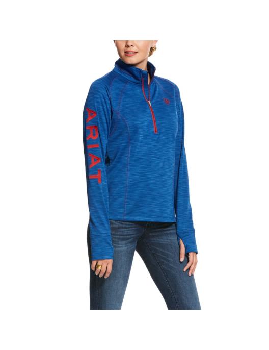 Ariat Womens Sweatshirt Team 1/2 Zip verticalblue heather