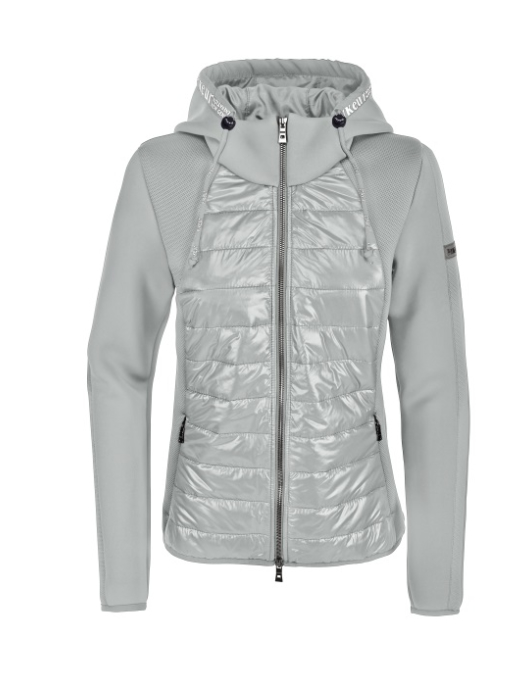 Pikeur Materialmix-Jacket Josy light grey