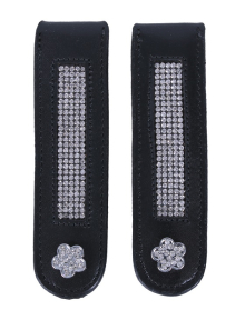 QHP Boot-Clip Flower black/silver