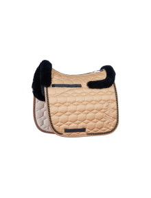Mattes Saddle Pad Deluxe 20/SAND border front and  back...
