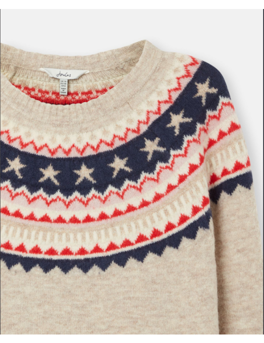 Joules knitted pullover Janelle with Norwegian pattern