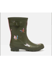 Joules Gummistiefel Molly Welly, khaki Hühner