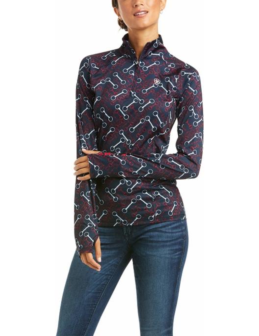 Ariat Langarm-Shirt Damen Lowell 2.0 1/4 Zip Team Print